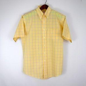 Brooks Brothers Plaid Short Sleeve Dress Shirt